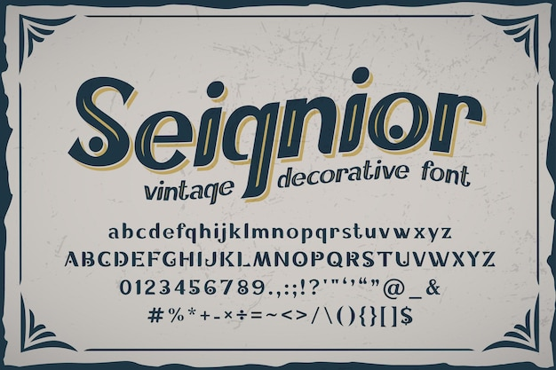 Seignior - police vintage