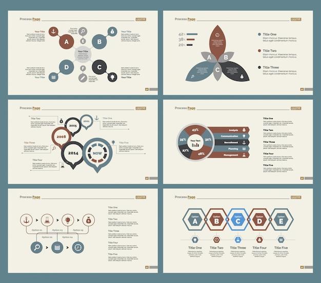 Seize modèles de diapositives de diaporama