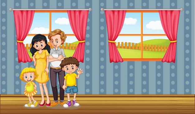 Séjour en famille heureuse à la maison