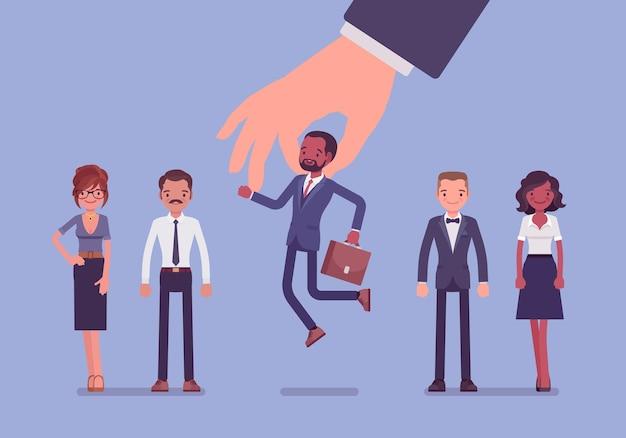 Sélection des candidats parmi un groupe d'employés