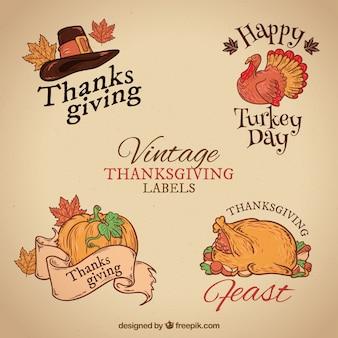 Sélection des différentes balises thanksgiving en couleurs chaudes