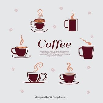 Sélection de différents tasses de café
