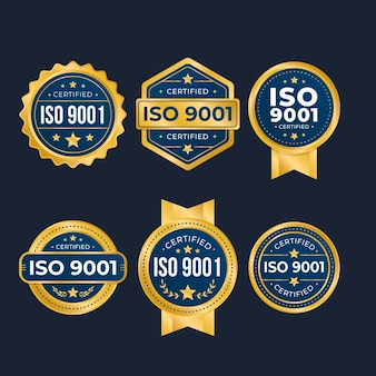 Sélection du badge de certification iso