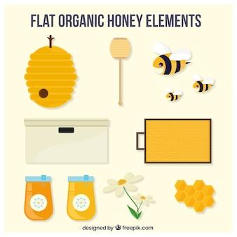 Sélection des éléments de miel plats