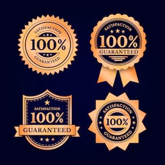 Sélection d'étiquettes de garantie à cent pour cent