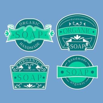 Sélection d'étiquettes de savon