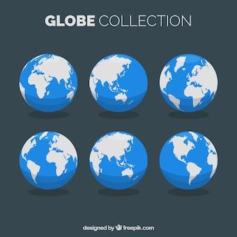 Sélection de globes terrestres plats