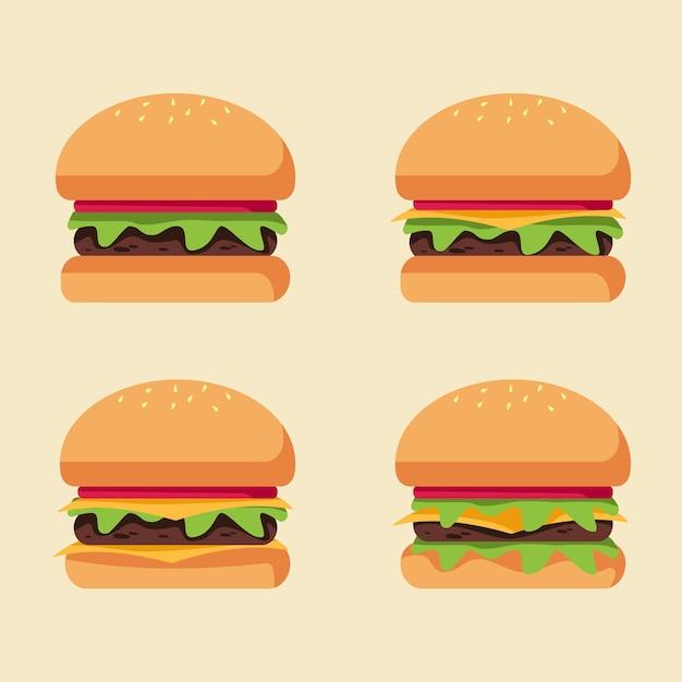 Sélection d'illustration vectorielle de hamburger