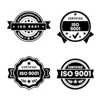 Sélection de timbres de certification iso