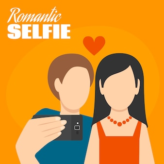 Selfie romantique