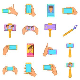 Selfie set d'icônes