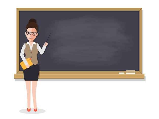 Senior enseignant enseignant étudiant en salle de classe.