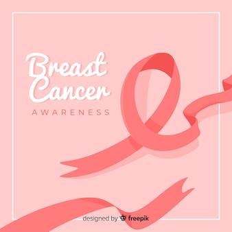 Sensibilisation au cancer du sein plat avec ruban