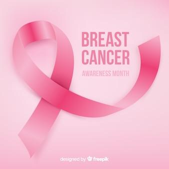 Sensibilisation au cancer du sein avec un ruban réaliste