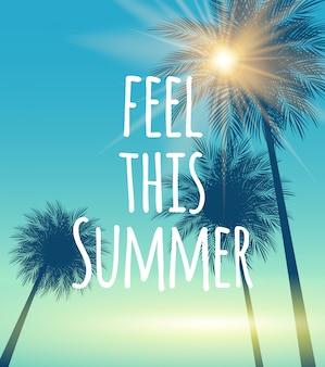 Sentez-vous cet été naturel palm background