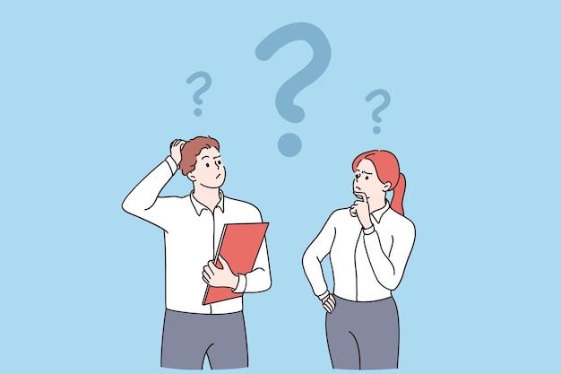 Sentiment de doute question pensée concept