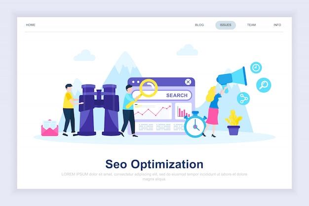 Seo analyse moderne page de destination plate