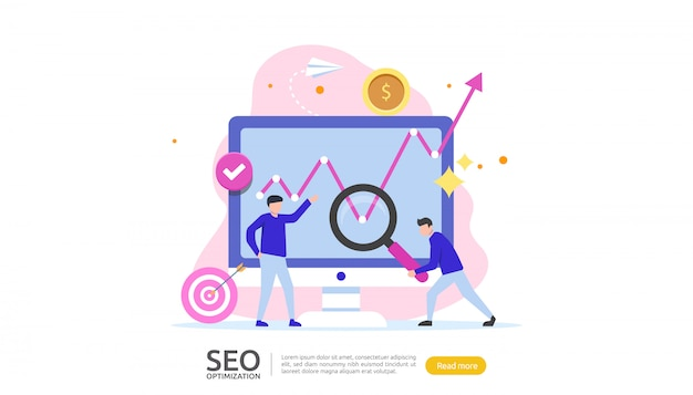 Seo concept d'optimisation de moteur de recherche