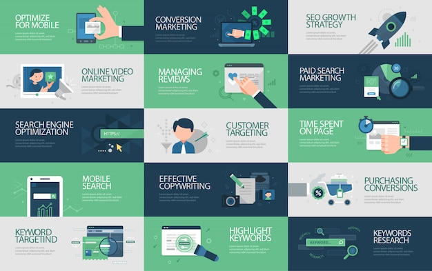 Seo marketing banner collection