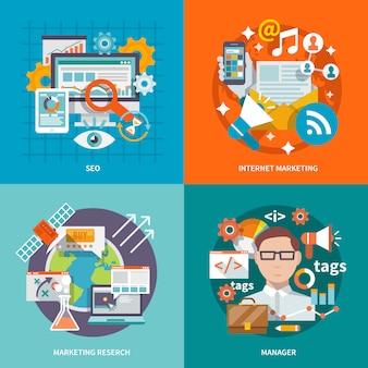 Seo marketing internet plat