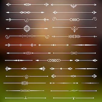 Séparateurs calligraphiques et décor de page