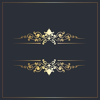Séparateurs décoratifs avec détails ornementaux dorés