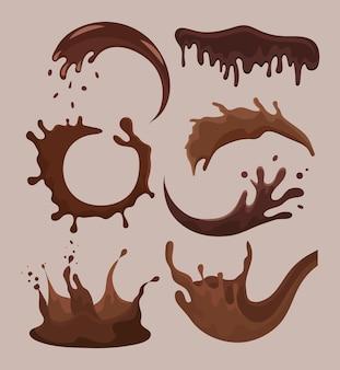 Sept chocolats liquides