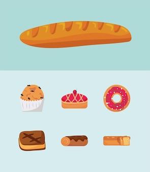 Sept éléments de boulangerie