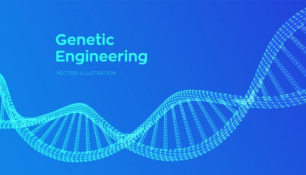 Séquence d'adn. filtrage des molécules de code d'adn de structure maillée.