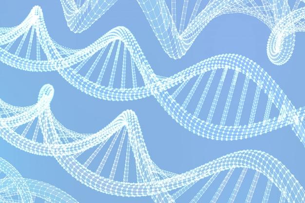 Séquence d'adn. filtrer les molécules du code de l'adn structure maillage.