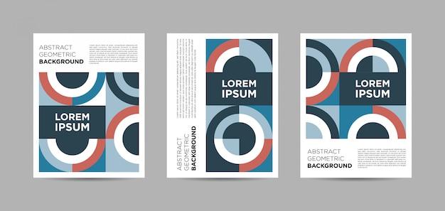 Série d'affiches géométriques abstraites