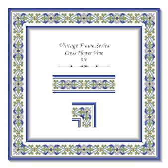 Série de cadres vintage de vigne croix antique