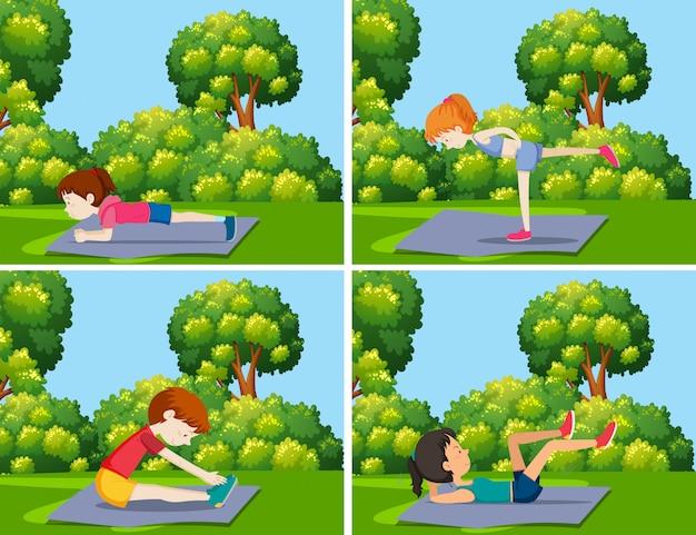 Une série de cours de yoga dans la nature