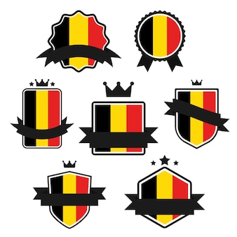 Série de drapeaux du monde, drapeau de la belgique.