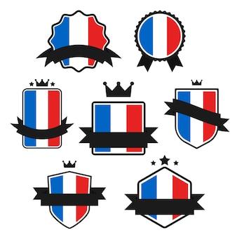 Série de drapeaux du monde, drapeau de la france.