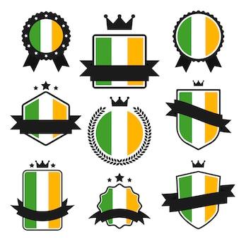 Série de drapeaux du monde, drapeau de l'irlande.