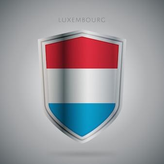 Série de drapeaux d'europe icône de luxembourg