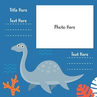 Série de modèles de livre photo de dinosaure