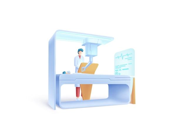 Série de soins de santé: concept d'illustration chirurgien