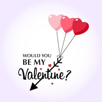 Seriez-vous ma valentine avec fond rose