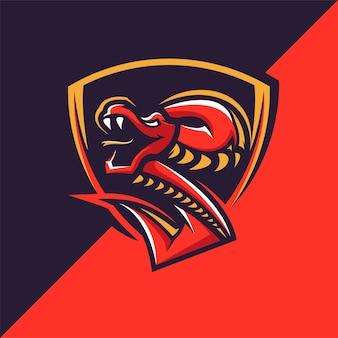 Serpent avec bouclier logo bouclier