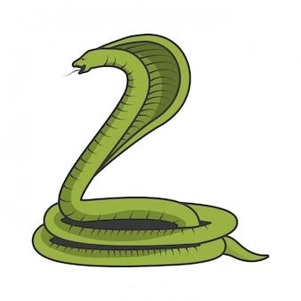 Serpent cobra toxique