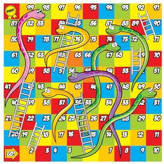 Serpent coloré et échelle