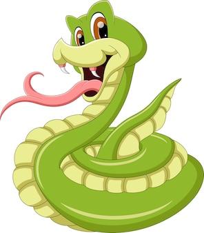 Serpent de dessin animé qui sort sa langue