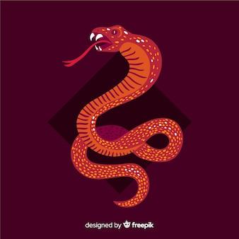 Serpent dessiné à la main fond sifflant