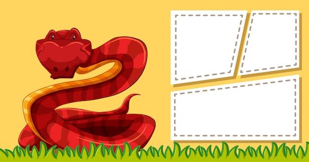 Serpent sur le modèle de note