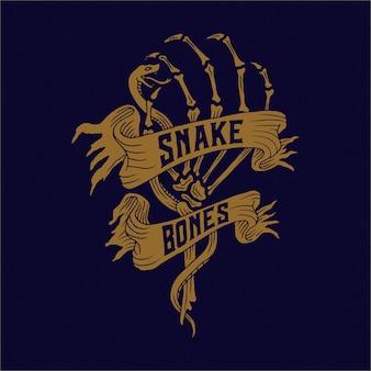 Serpent et os