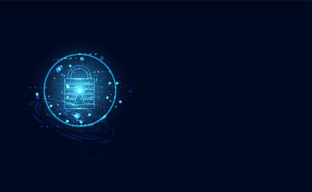 Serrure à clé personnalisée de fond futuriste moderne