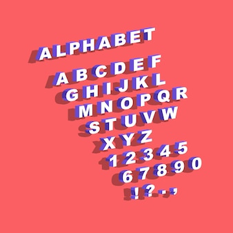 Sertie d'alphabet anglais et de nombres phrase constructeur citations design illustration vectorielle
