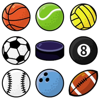Sertie de balles de sport